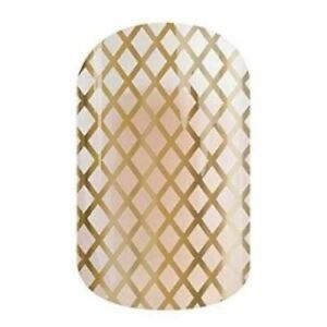 Jamberry Nail Wraps Gold Fishnet on Clear